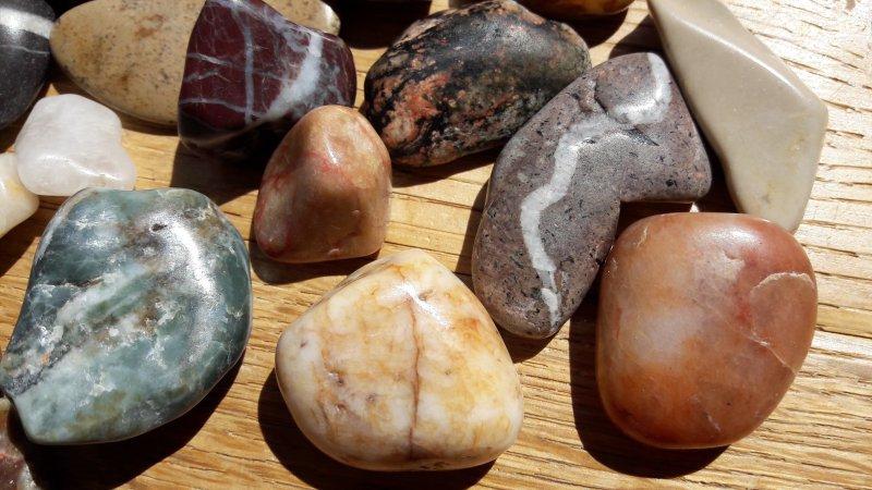 So sehen die fertig geschliffenen Steine aus.