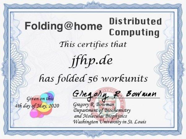 Solche schicken Zertifikate kann man sich bei Folding@Home herunterladen. Bringt zwar nix, sieht aber gut aus :-)