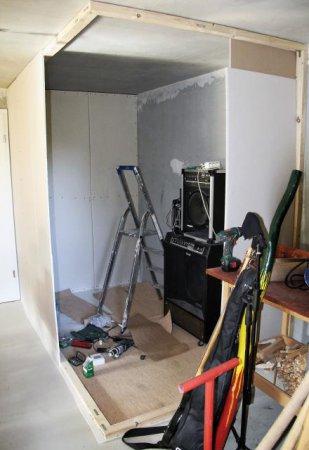So sah das Ministudio in der Bauphase aus.