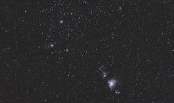 Orion und Flammennebel am 07.01.2008
