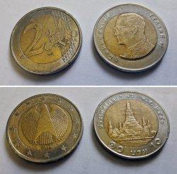 Das gab's anstatt 2 Euro im Wechselgeld beim Bäcker: 10 thailändische Baht