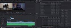 So sah das Davinci-Projekt für unser Musikvideo am Anfang aus