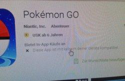 Pokemon geht beim mir nicht. Ist vielleicht besser so.