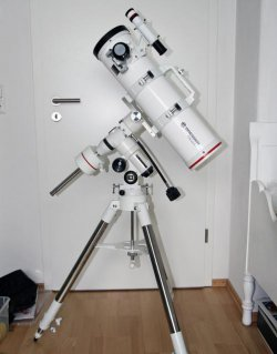 Mein erster Gewinn, ever, ever, ever! Ein Bresser Messier NT 130/650.
