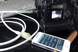 DSLR-Remote auf Samsung Galaxy GT-S5830 verbunden mit der EOS 350d
