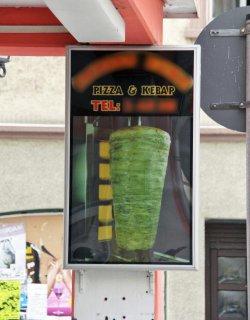 Grüner Döner, zum Glück nur zu Werbezwecken