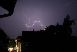 Blitz über Donaueschingen am 14.07.2010 - 7